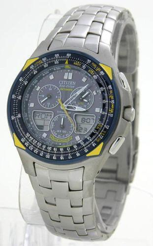 citizen eco drive skyhawk titanium manual