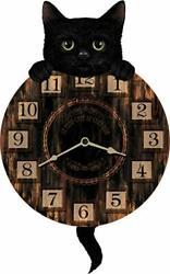 Wall Clock/Wall Hanging - KITTEN TICKIN' (Cat) - Pendulum clock - Battery