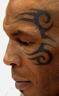 Halloween Temporary Mask Temorary Tattoo Mike - Mike Tyson Tattoo Halloween