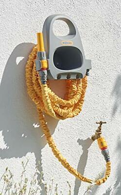 [2021 Upgrade] Hose Lock Hose Hanger With 15m Super Hose Hosepipe, Yellow & Grey