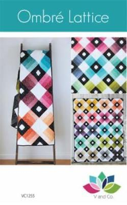 OMBRE LATTICE Quilt Pattern by V and Co. 68