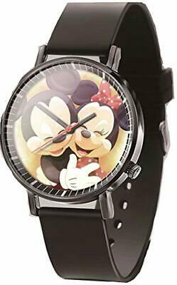 Adorable Mickey Mouse and Minnie Mouse Black Watch
