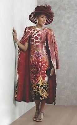 Ashro Regal Jacket Dress Duster New Nwt Red Print