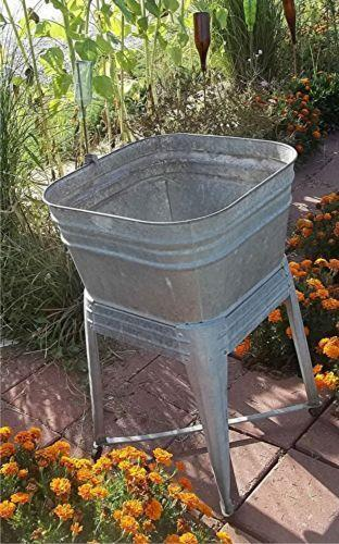 Galvanized Wash Tub Antiques Ebay