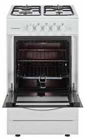 Cookworks CGS60W Free Standing 60cm Single Gas Cooker - White.