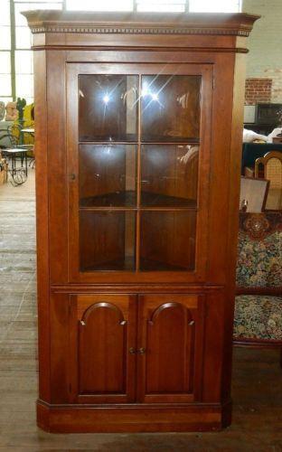 Antique Cherry Corner Cabinet Ebay