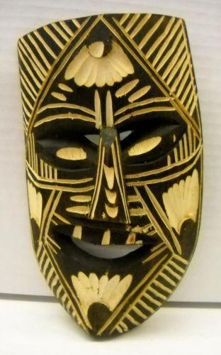 Vintage Wooden Mask Ebay