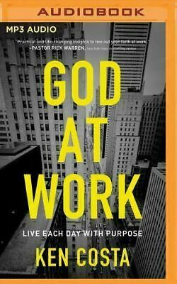 God At Work (God at Work: Living Every Day with Purpose (2016, MP3 CD,Unabridged) Audio)