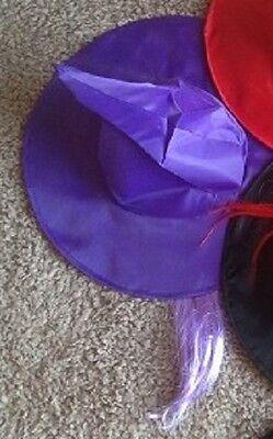 Halloween Mujer en Morado Sombrero Bruja con Cabello - Brujas En Halloween