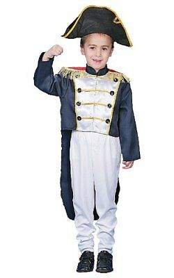 Historical Colonial General Costume Set For Kids By Dress up America - Size Larg (Colonial Dresses For Kids)