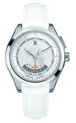 Timex TX Men's T3C503 400 Series Perpetual Weekly Calendar White & Silver Watch