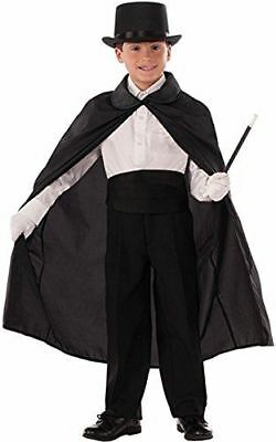 Forum Magician Vampire Witch Wizard Character Cape Child Costume, Black, 36
