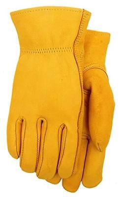 Grain Deerskin 3M Thinsulate Leather Lined Winter Work Gloves Men's (Lined Grain Deerskin Gloves)