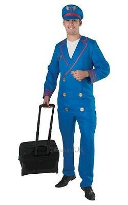 Adult Pilot Fancy Dress Outfit Size XL Chest 42-46