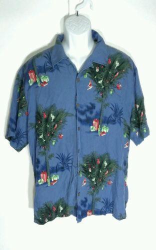 Tommy bahama christmas casual shirts ebay for Tommy bahama christmas shirt 2014