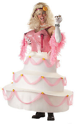 Adult Men Funny Bachelor Party Babe Girl In A Birthday Cake Halloween Costume