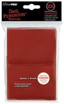 ((100) *NEW* ULTRA PRO CARD SLEEVES Red Deck Protectors MTG Magic Pokemon )