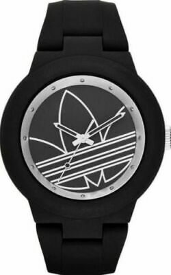 new Adidas Originals Silver Black Rubber Unisex Watch ADH3048