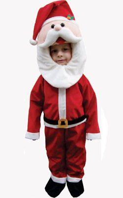 Kinder Weihnachtsmann Kostüm für Weihnachten 4-6 Jahre NEU OVP