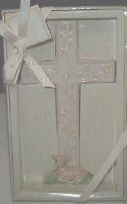 NEW CHILD TO CHERISH CERAMIC CROSS CHRISTENING GIFT NURSERY (Cherish Ceramic)