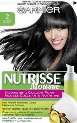Garnier Nutrisse Nourishing Color Foam Mousse, 2 Soft Black ()