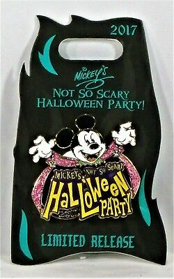 Disney Mickey Not So Scary Halloween Party 2017 Event Logo Mickey 3-D Pin NEW](Disney Halloween Events 2017)