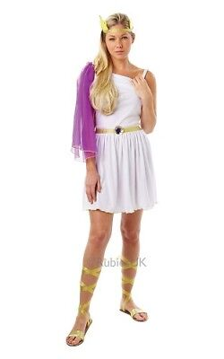 Adults Greek Goddess Outfit Fancy Dress Including Sandals Size 8-10 Toga (Toga Party Outfit Kostüm)