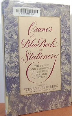 Cranes Blue Book Of Stationery By Steven Feinberg