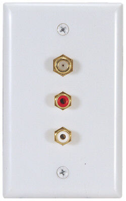 RCA Wall Plate Solder Type RCA Female Jack F Connector VH69 Jack Wall Plate