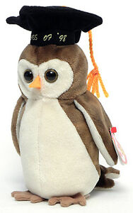 Wise the Class of '98 Owl Ty Beanie Baby stuffed animal