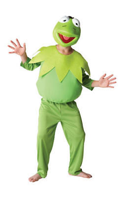 Kids Childs Deluxe Kermit The Frog Fancy Dress Costume Outfit Rubies Muppets 5-6