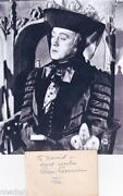 Alec Guinness Signed
