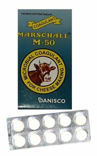 Cuajo Coagulante Queso En Casa 100 pastillas original de calidad para hacer ques