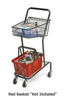 Mini 42 Inch Retail Store Shopping Cart - Red Basket Not Included