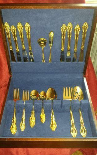 how to clean gold flatware