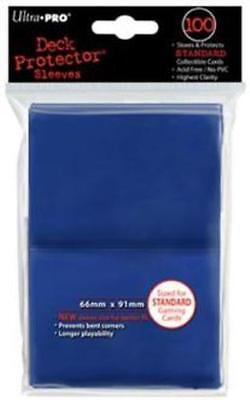 ((100) *NEW* ULTRA PRO CARD SLEEVES BLUE Deck Protectors MTG Magic FREE SHIPPING )