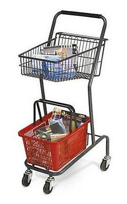Mini Shopping Cart 42 Inch H With Red Basket