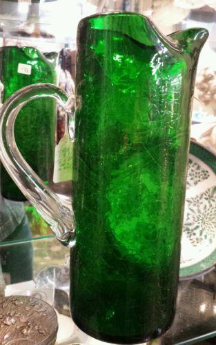 Blenko Green Pitcher Ebay