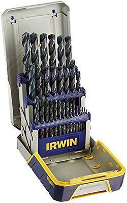IRWIN Tools Swarthy Oxide Metal Index Drill Bit Set with Case, 29-Piece (3018004)