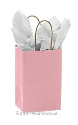 Paper Shopping Bags 25 Light Pink Retail Merchandise Rose 5 X 3 X 8