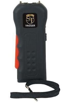Police Black Trigger Rechargeable Stun Gun Flashlight Disable Pin Taser Case