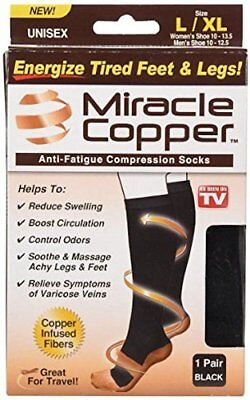 Miracle Copper Anti-Fatigue Compression Socks Large/Extra Large