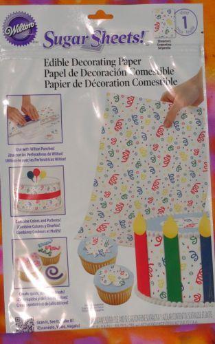 Edible Decorating Paper Ebay