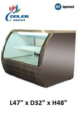 New 48 Commercial Deli Refrigerator Cooler Showcase Cold Case Dc120 Nsf White