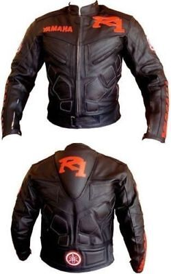 YAMAHA R1 RACER  MOTORBIKE  LEATHER JACKET CE APPROVED  for sale  Shipping to Canada