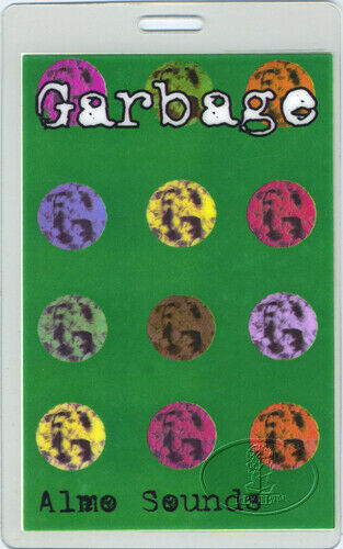 GARBAGE 1996 Japan Tour Laminated Backstage Pass Butch Vig