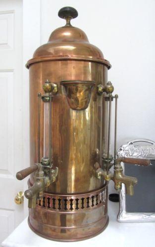 Antique Brass Coffee Maker