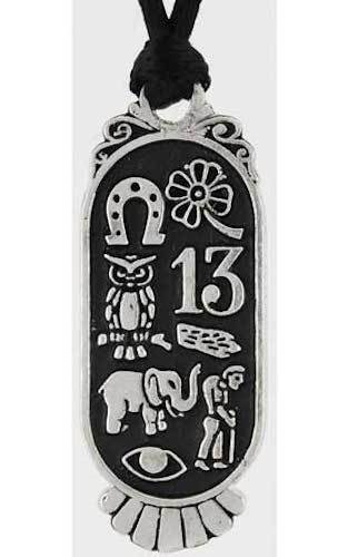 Lucky 8 Pewter Amulet Pendant to Attract Luck!