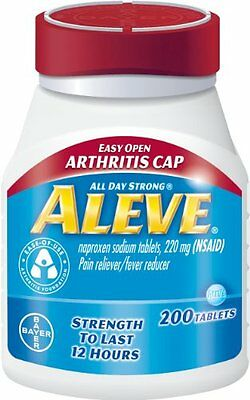 Aleve Tablets with Easy Open Arthritis Cap, 200 Count