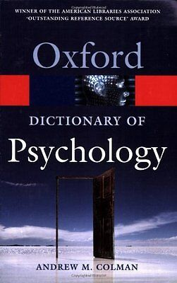 A Dictionary of Psychology (Oxford Paperback Reference) By Andr .9780198610359